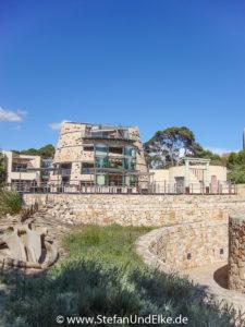 Besucherzentrum des Cabrera-Nationalparks, Insel Mallorca, Spanien