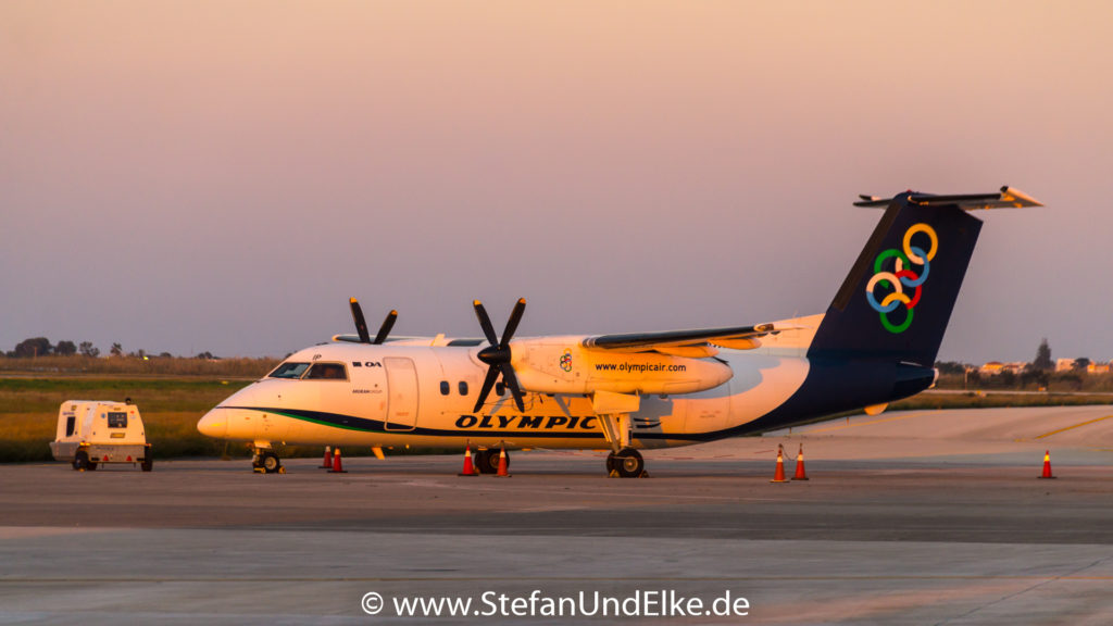 De Havilland Canada DHC-8-102A Dash 8 SX-BIP, LGRP (RHO) Rhodos, OAL (OA) Olympic Airlines, Flugzeuge 2022