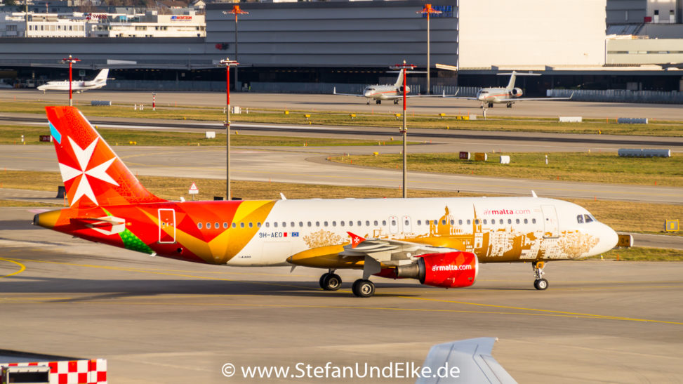 Airbus A320-214 9H-AEO, LSZH (ZRH) Zürich, AMC (KM) Air Malta
