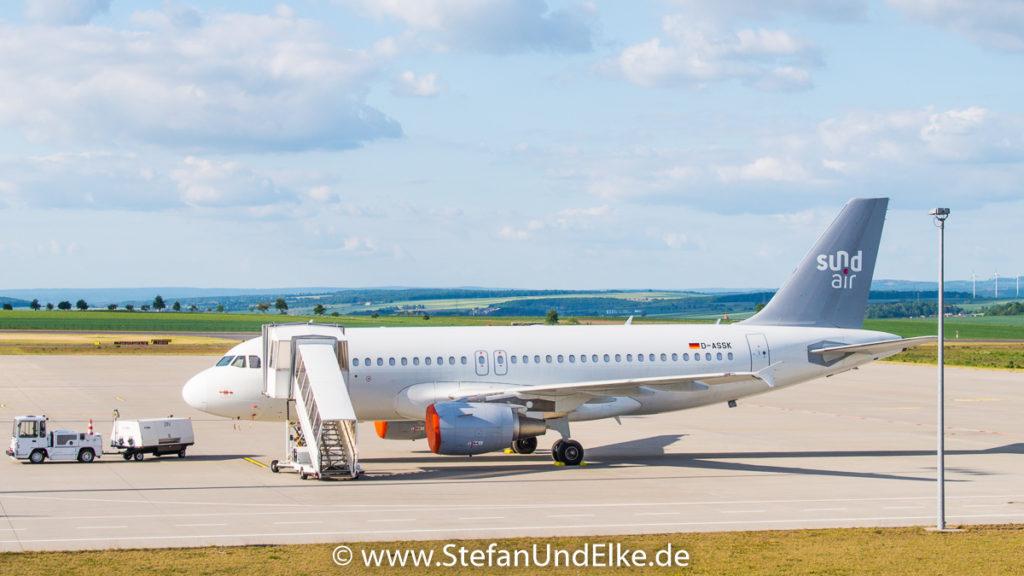 Airbus A319-111 D-ASSK, EDVK (KSF) VFH Kassel-Calden, SDR (SR) Sundair