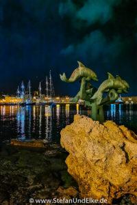 Am Hafen in Rhodos-Stadt, Insel Rhodos, Griechenland