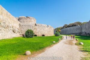 Mittelalterliche Festungsanlage in Rhodos-Stadt, Insel Rhodos, Griechenland