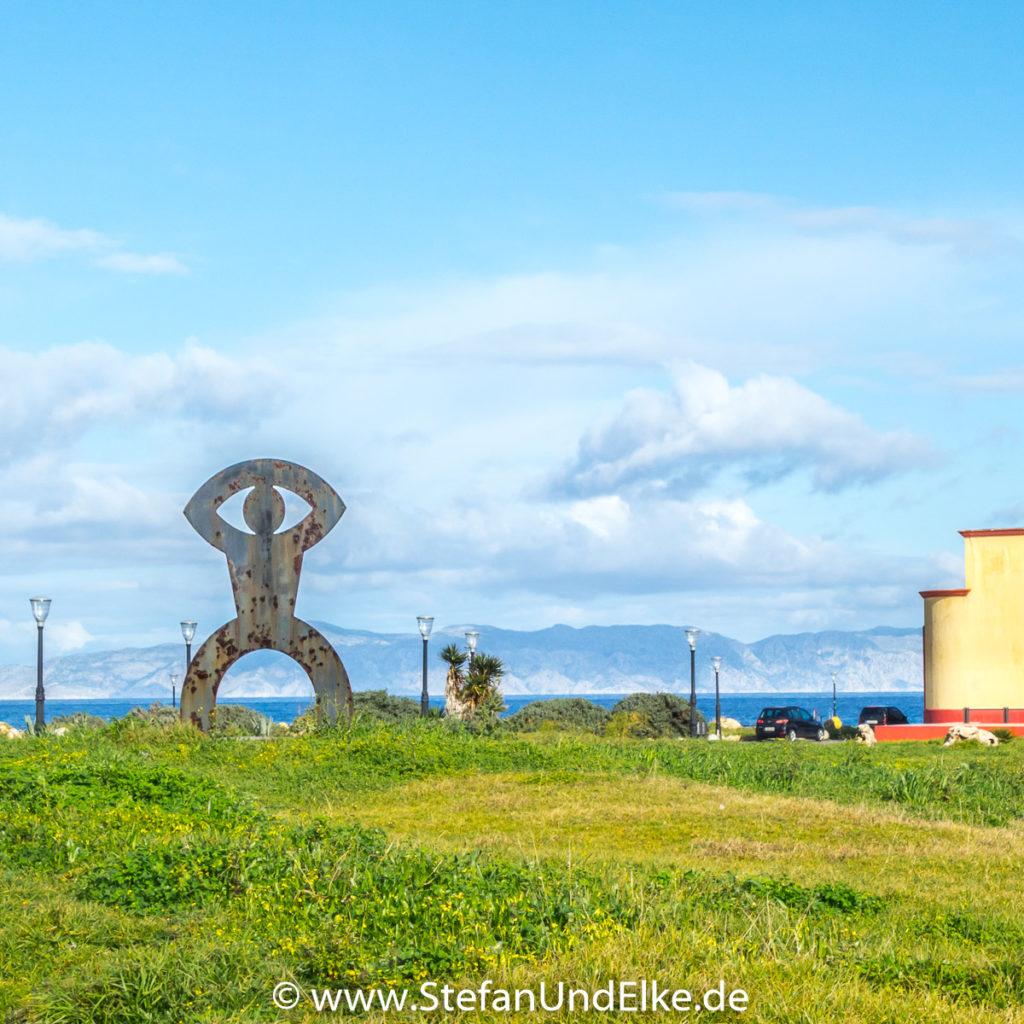 Skulptur des Koloss von Rhodos, Insel Rhodos, Griechenland