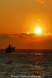 Sonnenaufgang Rhodos-Stadt, Insel Rhodos, Griechenland