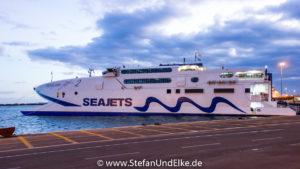 Der Katamaran Seajet 2 auf Kreta