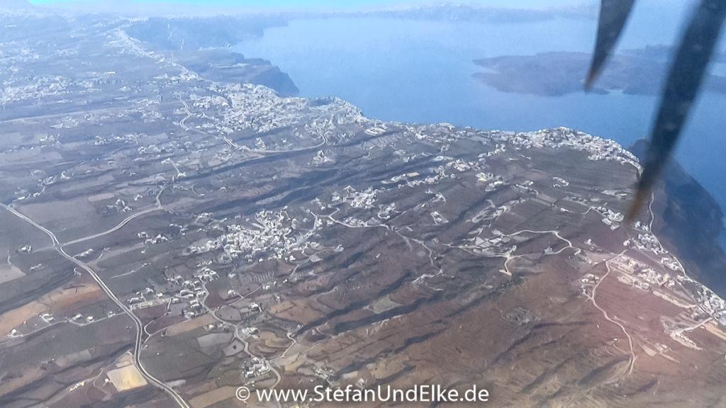 Blick auf die Insel Santorini, Griechenland