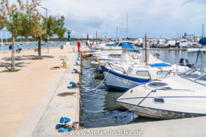 Am Hafen von Colónia de St. Jordi, Insel Mallorca, Spanien