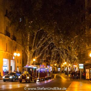 Geschmuckte Straßen in Palma