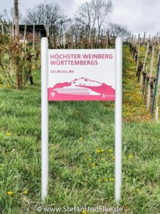 Baden-Württembergs höchster Weinberg bei Weilheim, Deutschland