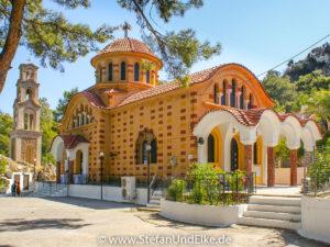 Das Kloster des heiligen Nektarios bei Archipoli, Insel Rhodos, Griechenland