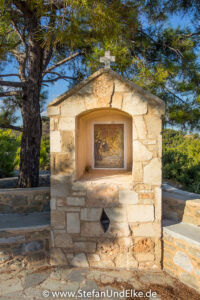Griechenland, Urlaub, Kreuzgang am Kloster Panagia Ipseni, Lardos, Insel Rhodos -  - Klöster, Kirchen und Kapellen