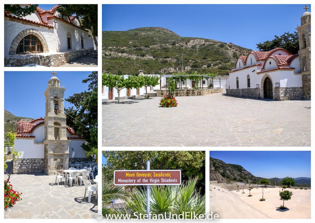 Das Kloster Moni Skiadi bei Mesanagros, Insel Rhodos