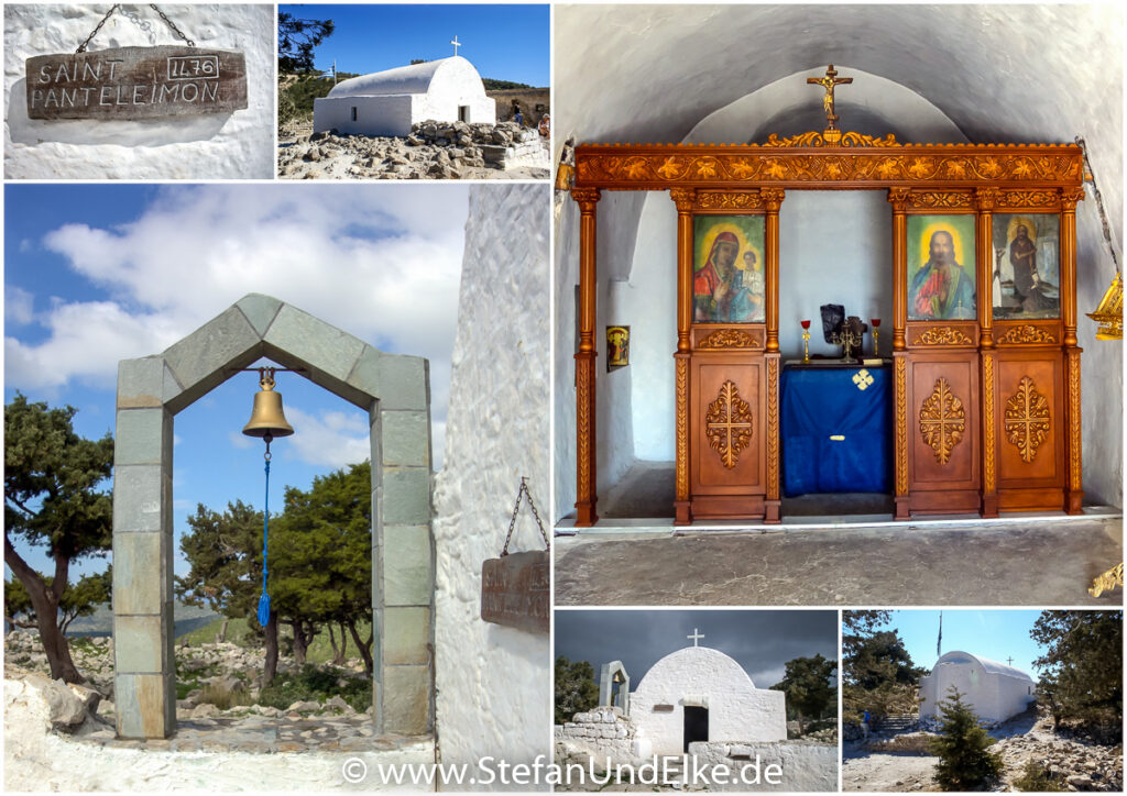 Kapelle Agios Panteleimon in der Burgfestung Monolithos, Insel Rhodos, Griechenland
