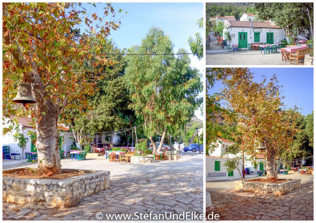 Griechenland, Urlaub, Auf dem Chorafia-Platz in Kastellorizo
