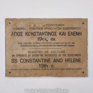 Griechenladnd, Urlaub, die Kathedrale von St. Konstantin und St. Helena auf Kastellorizo