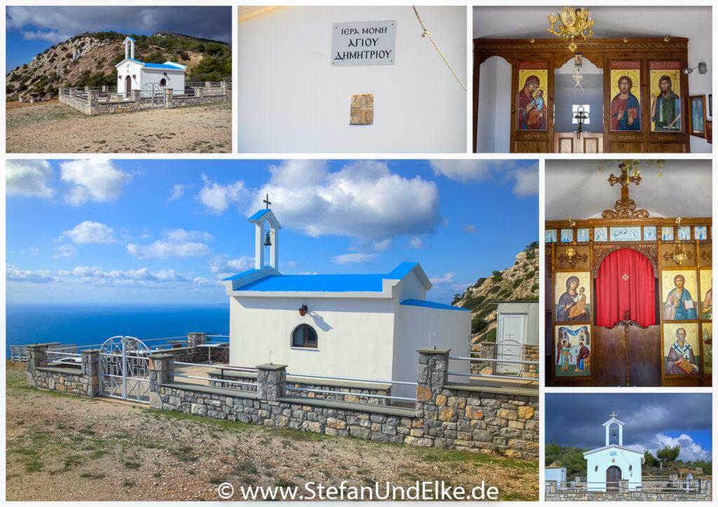 Die Kapelle des Agios Dimitrios bei Monolithos, Insel Rhodos,Griechenland