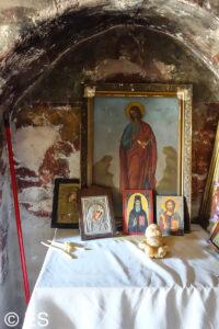 Die Kapelle Agios Thomas zwischen Mesanagrou und Lachania, Insel Rhodos, Griechenland