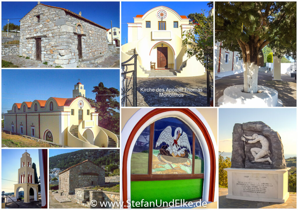 Kirche des Apostel Thomas in Monolithos, Insel Rhodos, Griechenland