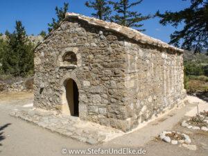 Die Kapelle Agios Georgios bei Apolakkia, Insel Rhodos, Griechenland