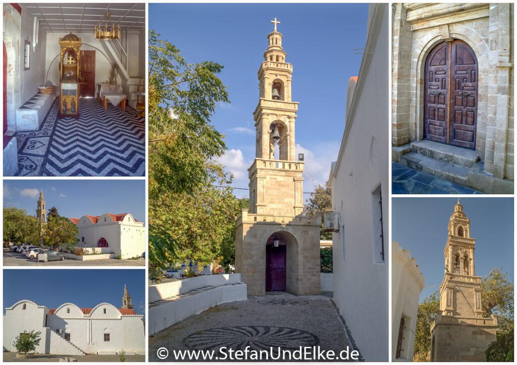 Die Kirche Agios Georgios in Lachania, Insel Rhodos, Griechenland