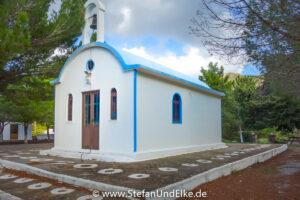 Die Kapelle  Agios Georgios Kalamos bei Apolakkia, Insel Rhodos, Griechenland