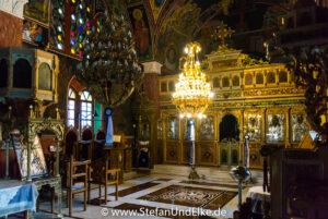 Die neue Kirche Agios Panteleimon in Siana, Insel Rhodos, Griechenland