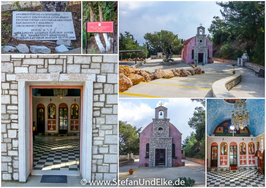 Die Kirche Prophet Elias bei Ialysos, Insel Rhodos, Griechenland