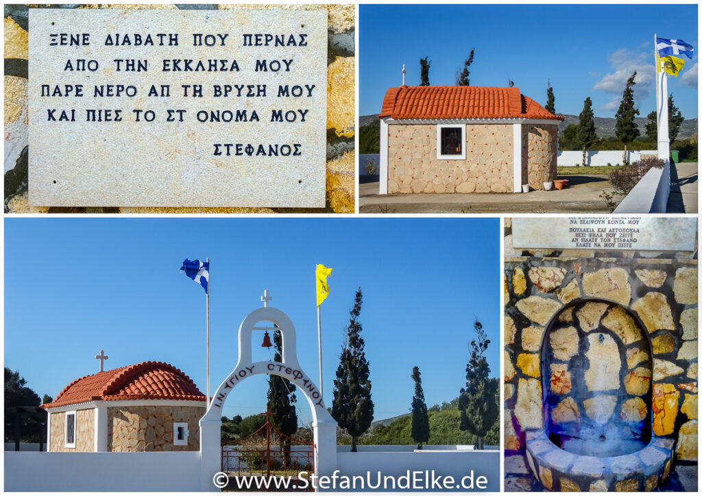 Die Kapelle Agios Stefanos bei Kattavia, Insel Rhodos, Griechenland