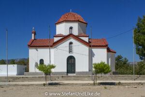 Die Kirche  Virgin Zoodochos Pigi am Apolakkia Stausee, Insel Rhodos, Griechenland