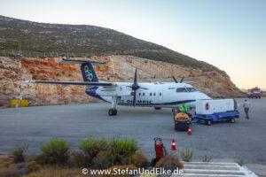 Der Flughafen LGKJ, Griechenland