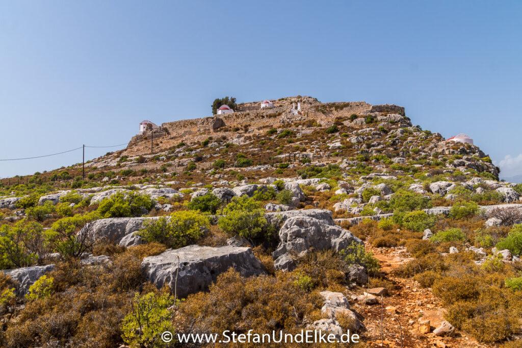 Das Paleokastro auf der Insel Kastellorizo, Griechenland