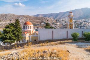 Die Kirche Evangelistria auf der Insel Symi