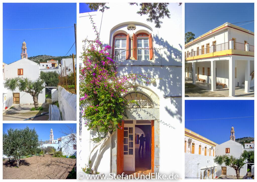Außenanlage des Klosters Panormitis, Insel Symi, Griechenland