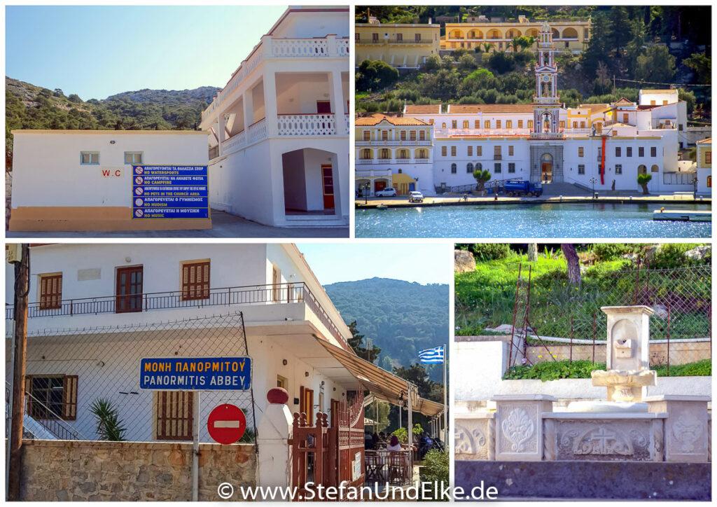 Eingang zum Kloster Panormitis auf der Insel Symi