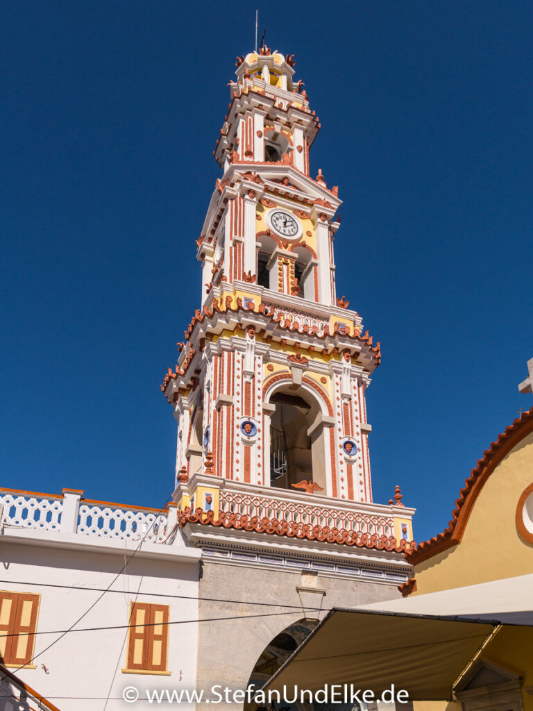 Der Glockenturm – Kloster Panormitis auf der Insel Symi