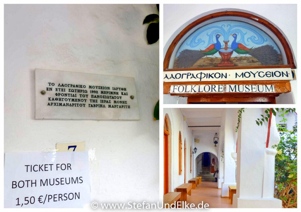 Museen auf dem Klostergelände, Insel Symi, Griechenland