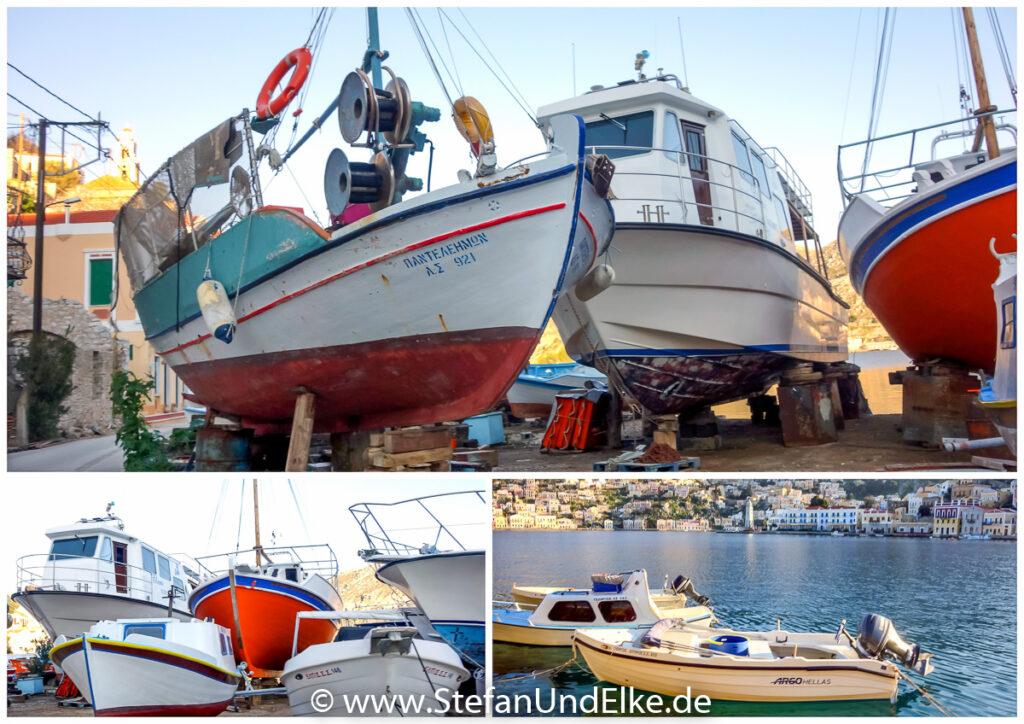 Die Werft Charani auf der Insel Symi